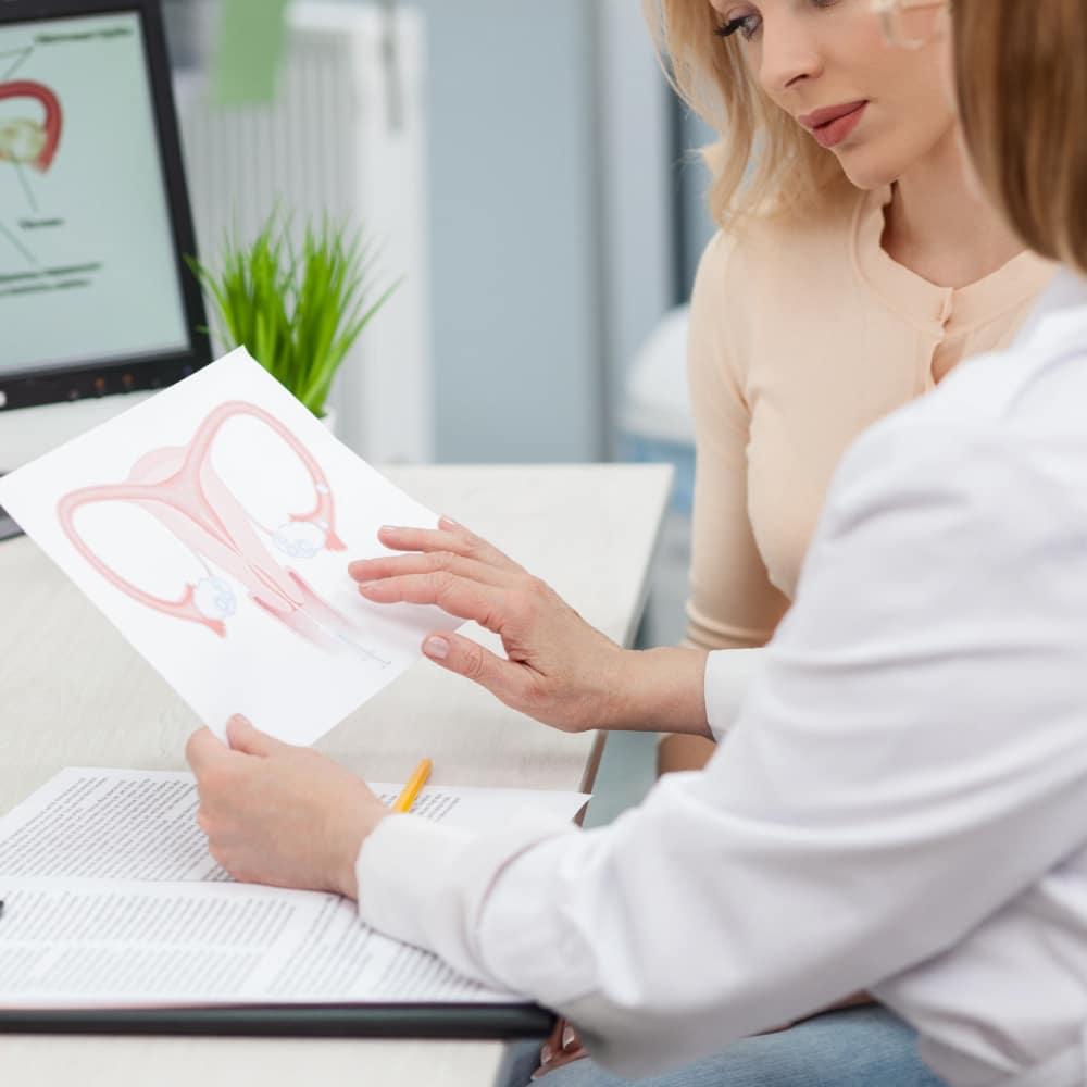 διέγερση ωοθηκών institute of life γιατρός συζητάει με ασθενή